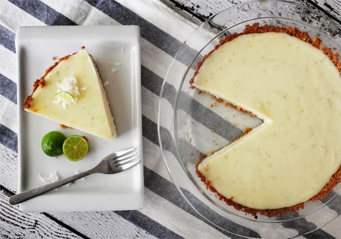 Key Lime Pie with a Coconut Graham Cracker Crust