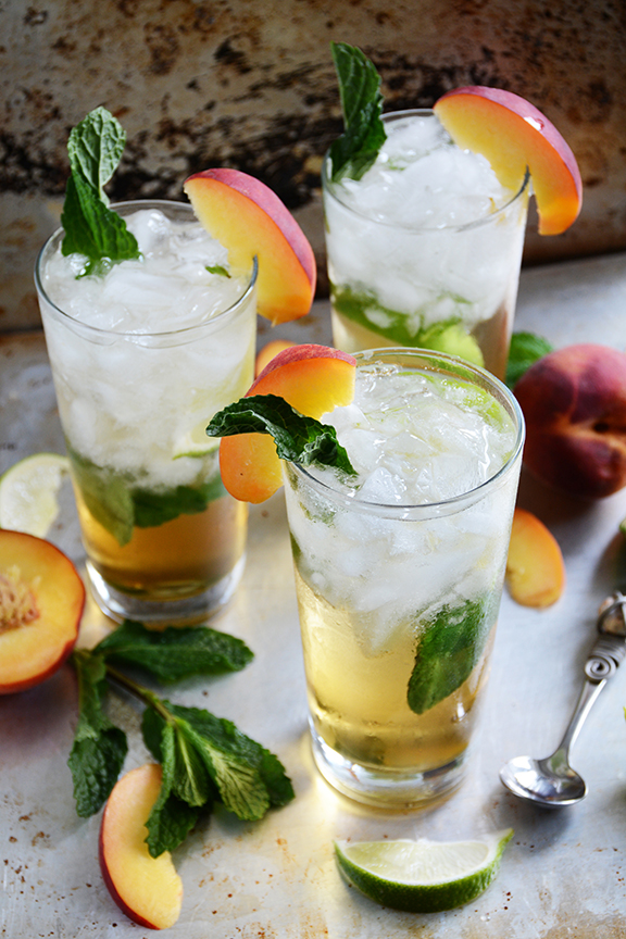 peach julep take advantage of the extra juicy peaches in season now ...