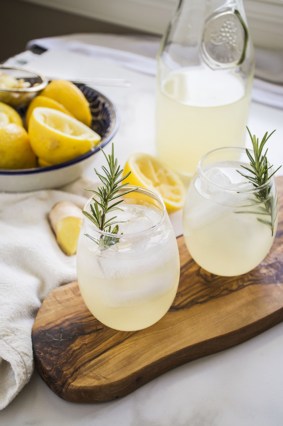 Naughty or Nice Ginger Lemonade